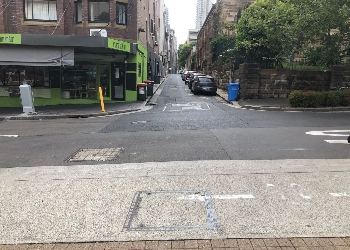 Intersection of St. Peters Lane and Bourke Street, Darlinghurst